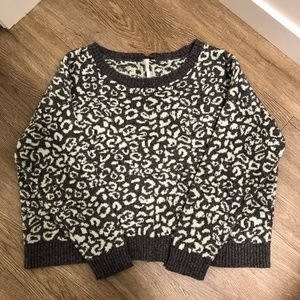 Free People Sweaters - Free People Cheetah Print Cropped Sweater